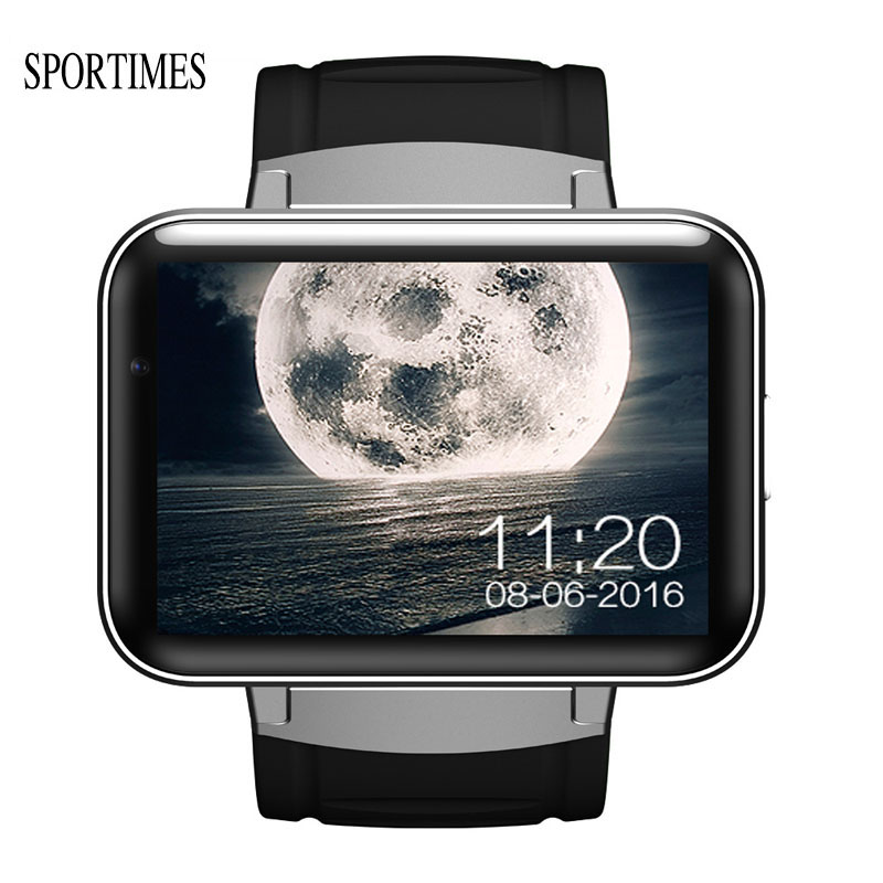 SPORTIMES Smart Men Watch With 2.2 Inch Large Touch Dial and Battery GPS Wifi Bluetooth Video Call Camera Support WhatsApp DM98 children gps smart watch q750 baby watch with wifi 1 54inch touch screen sos call location device kids watch phone montre f15