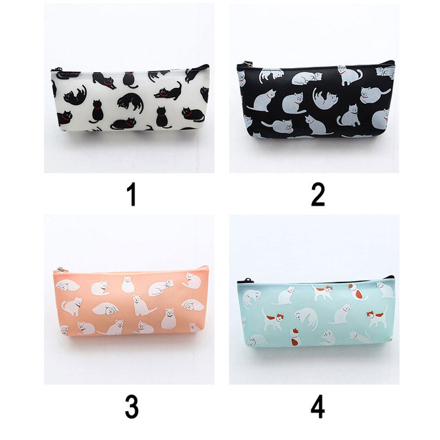 Cute Cat Printed Pen Case