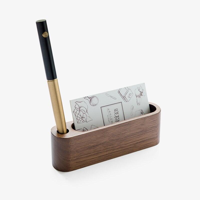 2017 Creative Wooden Business Card Case Note Holder Storage Rack ...