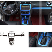 Car Styling Car Interior Center Console Color Change Carbon Fiber Molding Sticker Decals For VW Golf 6 AT 10 2012