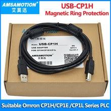 Linha de transferência apropriada do plc da série de omron cp1h cp1e cp1l cp1g do cabo do plc USB CP1H