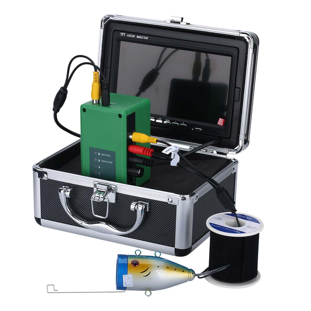 PDDHKK 10 M/15 M Unterwasser Eis/Meer Angeln Kamera 7 Zoll 1000TVL Angeln Finder 15 stücke Weiß LEDs + 15 stücke Infrarot Lampe Nachtsicht