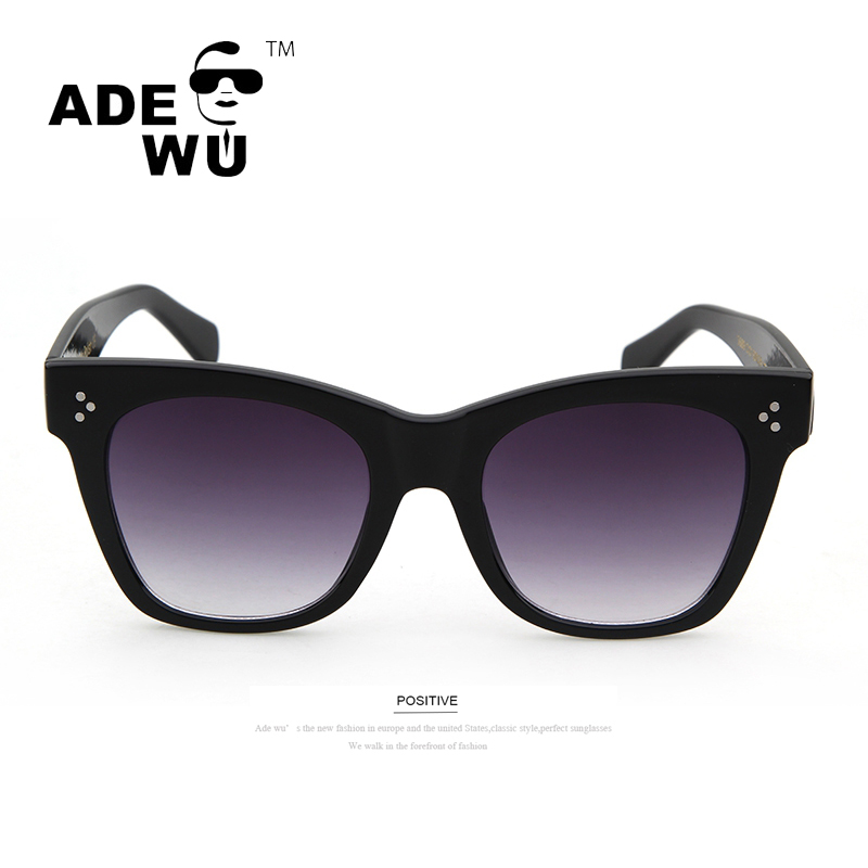 ADE WU Luxury Brand Designer Cat Eye Gradient Sunglasses Women Super Star Oversized Sexy Sunglasses For Women UV400 Glasses