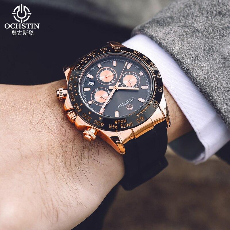New Men Watch OCHSTIN Top Luxury Brand Designer Quartz-watch Silicone Business Black Sport Military Quartz Watch Male Wristwatch все цены