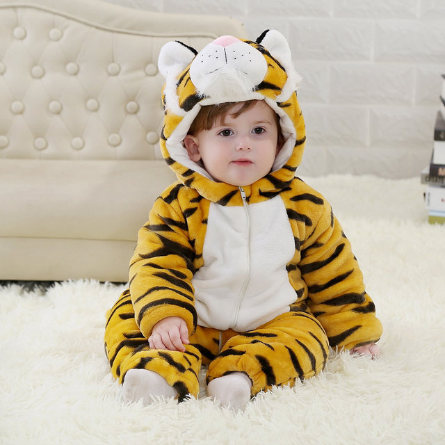 3f9bbecb1c9f Winter Tiger Baby Rompers Christmas Costumes Toddler Jumpsuit For 24 ...