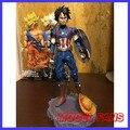 FÃS MODELO instock One Piece 26 cm Monkey D. Luffy Capitão América versão gk resina toy Figura para Coleção