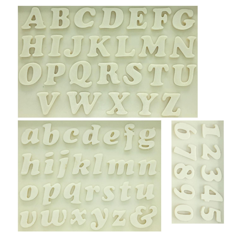 M0179 Sugarcraft Carta / Número molde de silicona fondant - Cocina, comedor y bar
