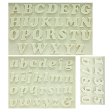 M0179 Sugarcraft Letter / Number силиконовая форма для помады формы для торта украшения инструменты для шоколадной глазури Кулинария для выпечки