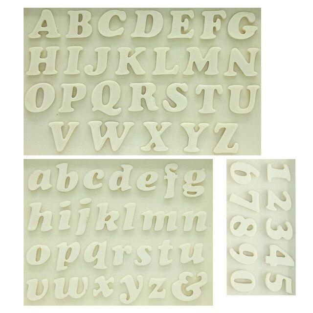 M0179 Sugarcraft Letter/Nummer siliconen mal fondant schimmel taart decoreren gereedschappen chocolade schimmel Keuken bakvorm