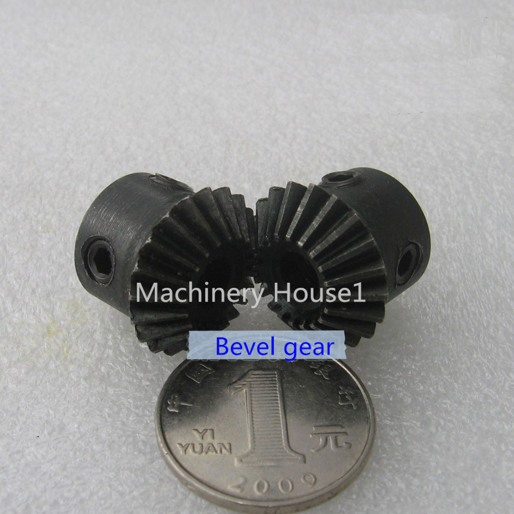 Bevel Gear a pair 20T 1.5 Mod M Modulus ratio 1:1 Bore 8mm 45# Steel Right Angle Transmission parts tank model RC car model DIY 5pcs lot k364 right angle 9 hole iron plate piece micro architecture model diy parts free shipping russi