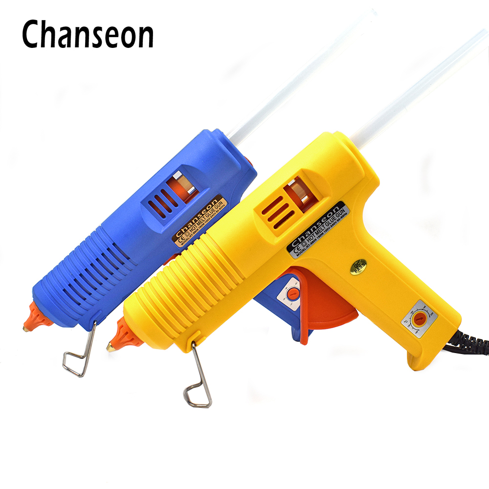 Chanseon Hot Melt Glue Gun 11mm 150W EU Plug Glue Heater +Copper Nozzle With Free 1pc Glue Stick Graft DIY Repair Electric Tool стоимость