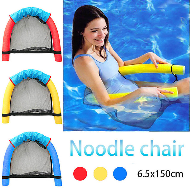 6 0x150cm Children Kids Soft Noodle Pool Mesh Water Floating Bed Chair Swimming Seat