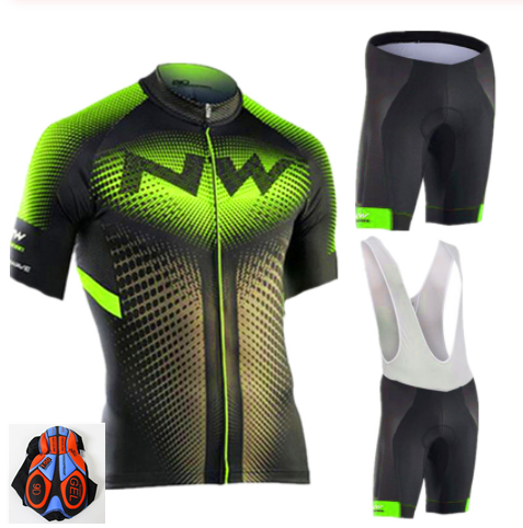 NW 2019 NORTHWAVE Summer Men Cycling Jersey Short Sleeve Set Breathable Bib Shorts Bicycle Clothes Gel Pad Clothing