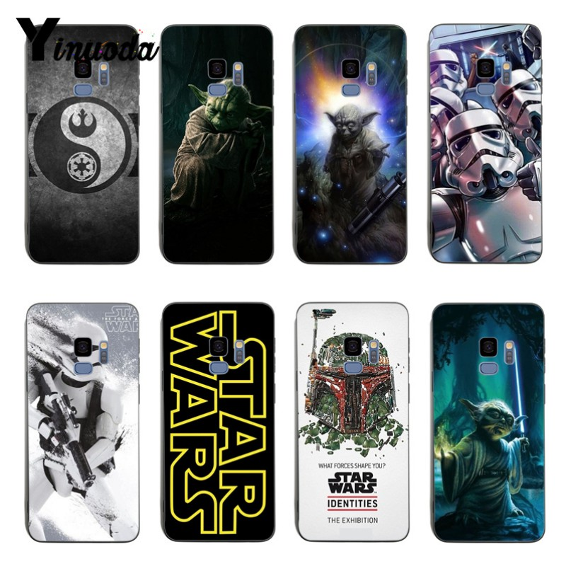 Yinuoda Star Wars Movie Guys Holding BB-8 Black Soft silicone Cover case For samsung S6edge S7edge S7 S8 S9 s8plus s9plus image