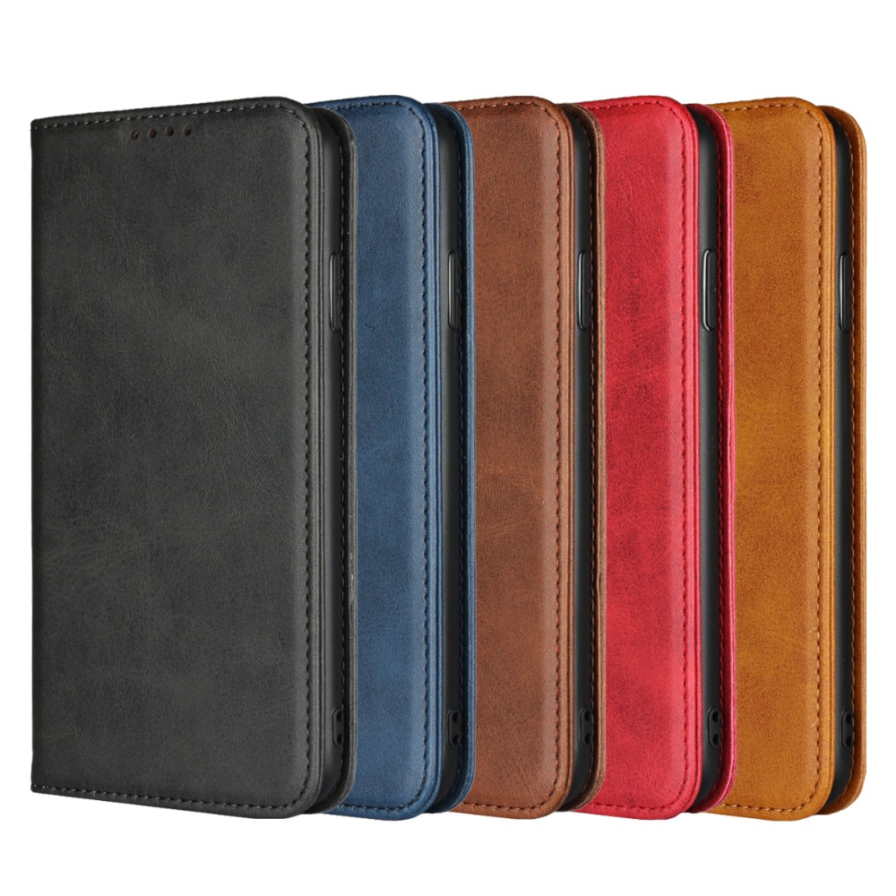 JDBLE Luxury Flip Cover Real Genuine Leather For IPhoneX XS Max XR Case Wallet  Real Calfskin Phone Case For 6Plus 7 8Plus Retro