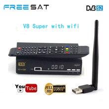2pcs Satellite font b TV b font font b Receiver b font decoder Freesat V8 Super