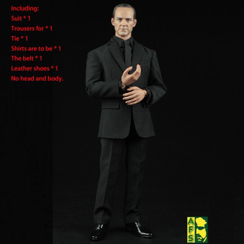 AFS A004 1/6 Bilancia Maschio Nero Vestiti Vestiti Vestito Per 12 Pollici 1:6 Action Figure Degli Uomini di Agenti di S. h. i. e. l. d. phillip J. coulson-in Action figure e personaggi giocattolo da Giocattoli e hobby su  Gruppo 2