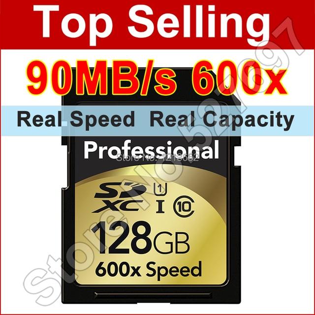 Professional Flash Memory Card 64GB 32GB 16GB 128GB SD Card Class 10 90Mb/s 600x CampactFlash SDXC SDHC UHS-I Hot Sale SD Cards