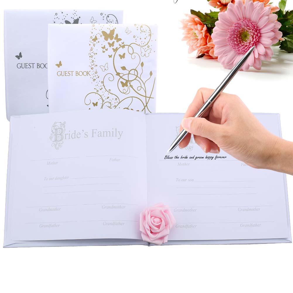 Personalized Wedding Journal Unique Wedding Guest Book Ideas Book Custom Gold Calligraphy Guestbook J2Y кабос f001 503 vga соединительная линия удлинитель кабеля дата кабель 3 4vga