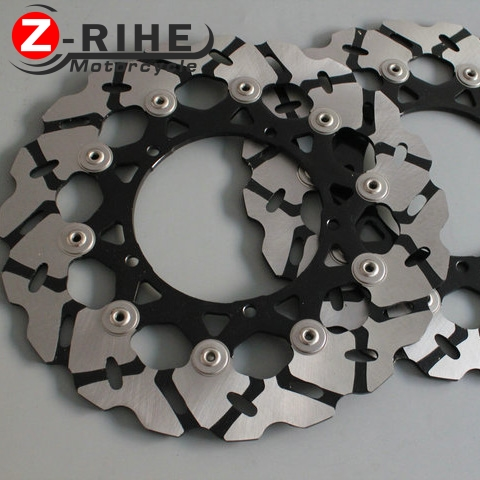 2PCS Front Floating Brake Disc Rotor motorcycle parts Aluminum  Brake Rotors for YAMAHA YZF600 R6 2003-2006 YZF1000 R1 2004-2006 full set 3pcs motorcycle new black gold 320mm 220mm front rear brake discs rotors rotor for yamaha yzf r1 2004 2005 2006 04 06