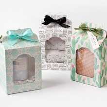 12.5*6.7*9.8cm 12 Pcs 3style choose Paper Box Wedding favor Christmas decoration Birthday Cookie Candy Chocolate Macaron packing