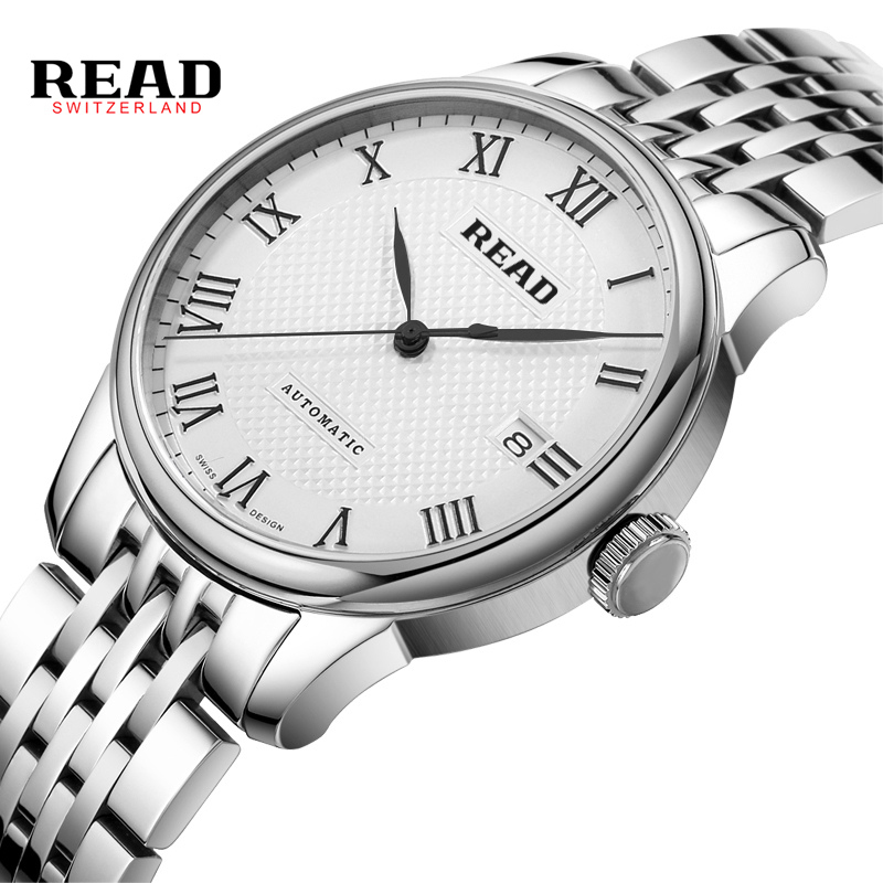 2017 READ Brand Fashion Men Male Clock  Stylish Design Classic Automatic Mechanical Wrist Casual Watch Sapphire Mirror Watches 2017 read men fashion automatic watch self wind mechanical wristwatch male clock classic stylish design stainless steel watch