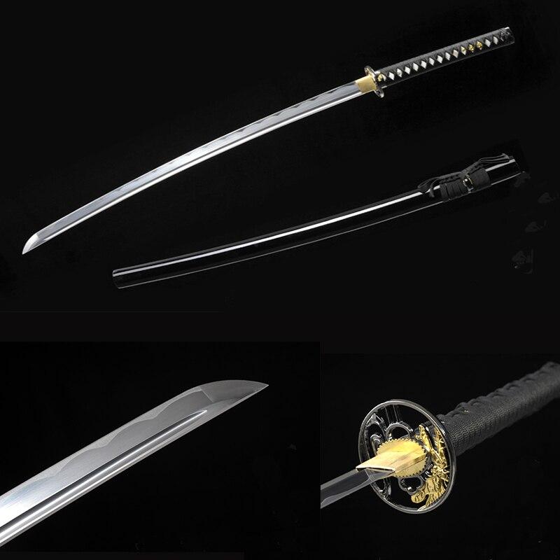 bushido handgemaakte katanas zwaarden katanas samurai japanse zwaarden Sharp katana Metalen ambachtslegering tsuba synthetisch leer