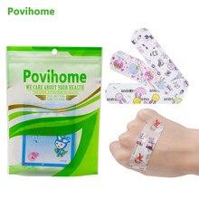 Bandages adhésifs étanches pour enfants, bande adhésive pour hémostase, aide stérile, premiers soins d'urgence, plâtre pour enfants, 50 pièces/sac