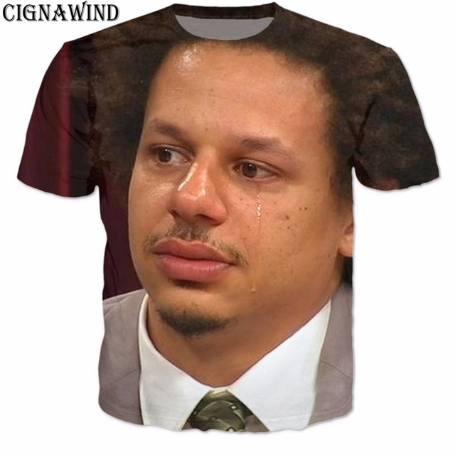 0848325d3 New Eric Andre crying funny printed 3d women/mens t shirts short sleeve  shirt hipster pullovers unisex tees tops Plus size S-5XL