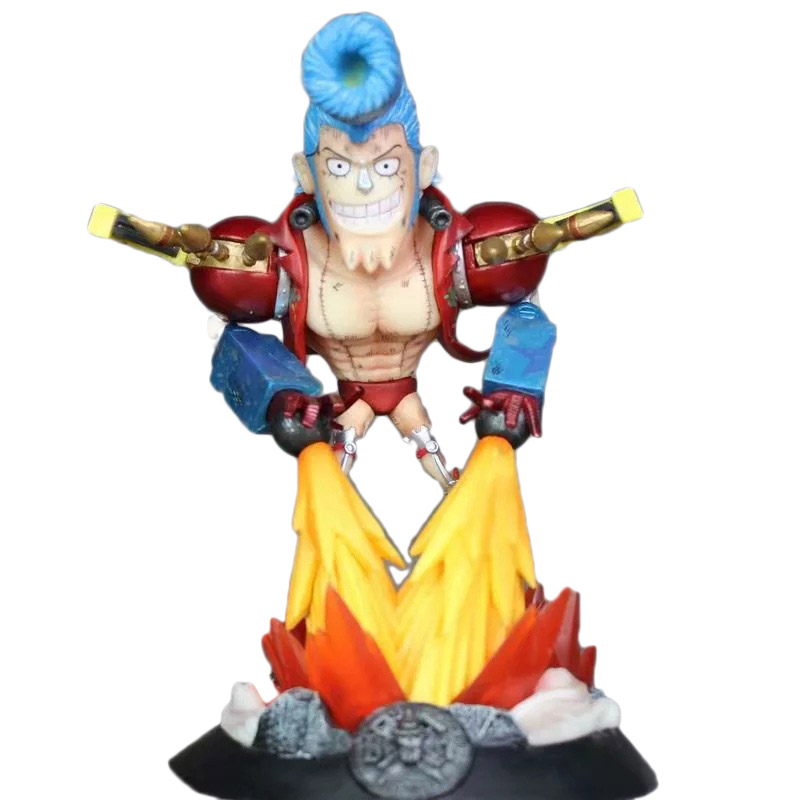 One Piece COS iron man Franky Action Figures GK The straw hat Pirates Model Toys 21cm