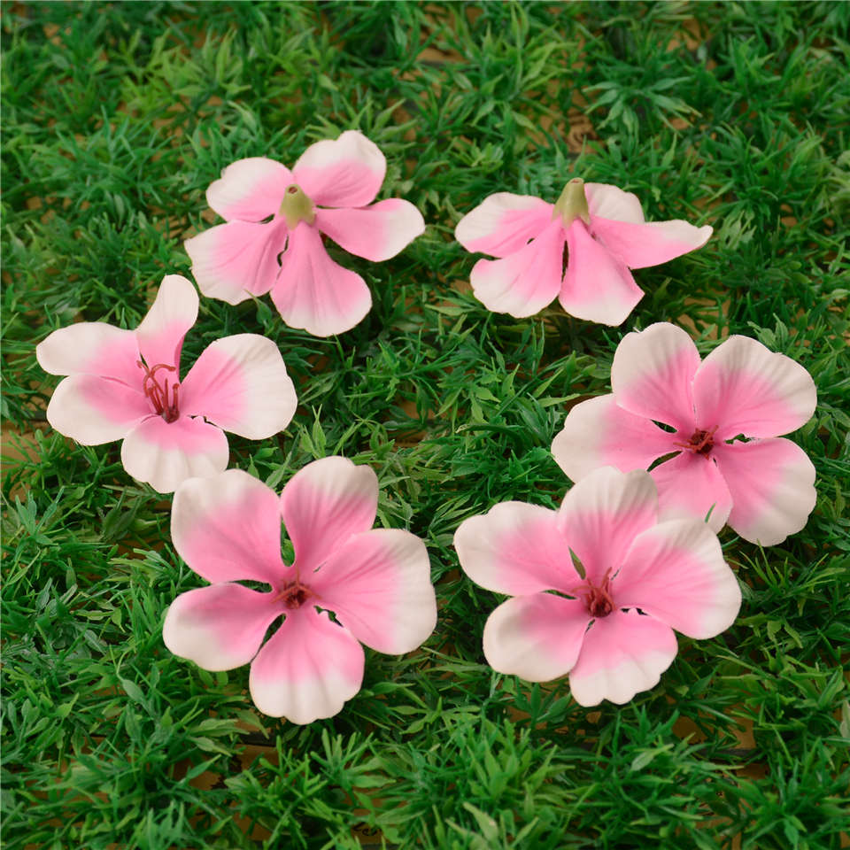 20pcs Spring Silk Gradient Orchid Artificial Flower For Wedding Home