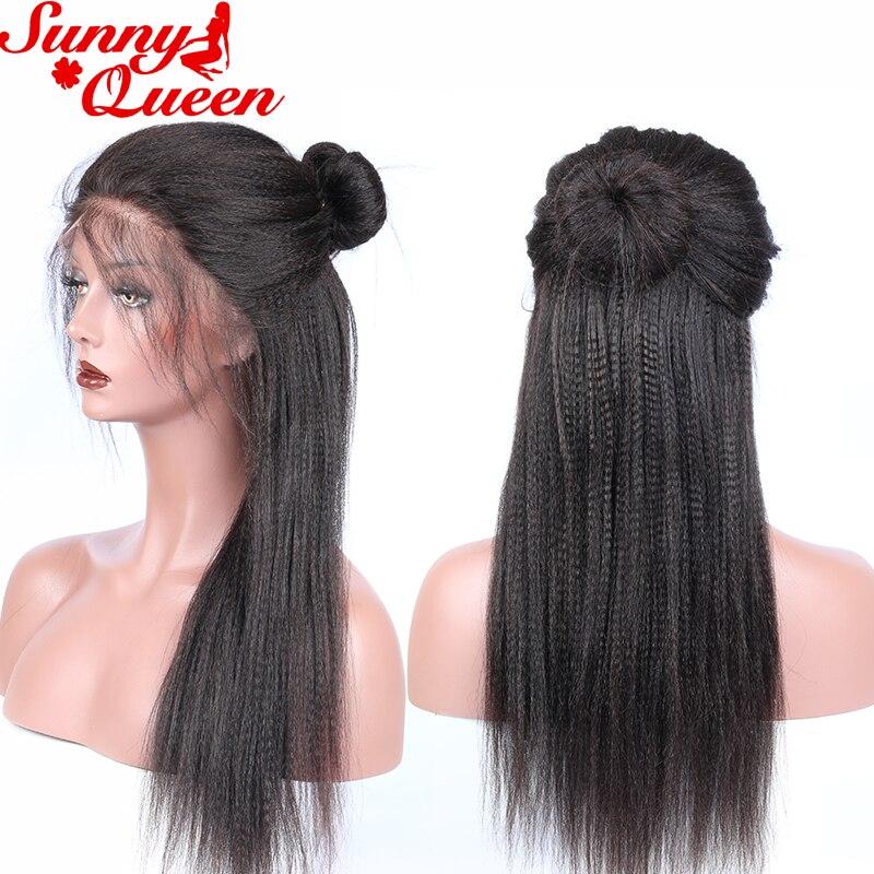 이탈리아어 야키 스트레이트 전체 레이스 인간의 - 인간의 머리카락 (검은 색) - 사진 4
