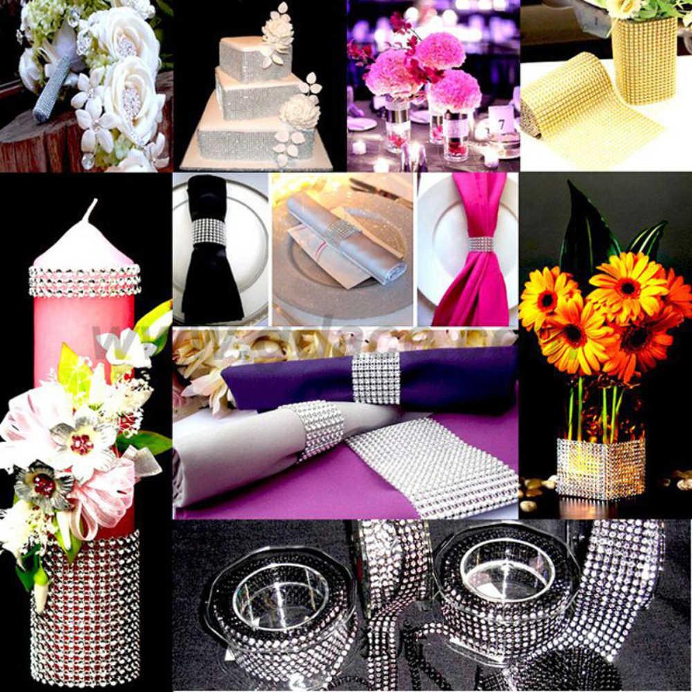 1 Yard strass ruban ruban cristal artificiel diamant maille mariage fête d'anniversaire décoration bricolage décor accessoires