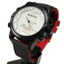 Новинка двухцветные силиконовые мужские часы от бренда Алексиса