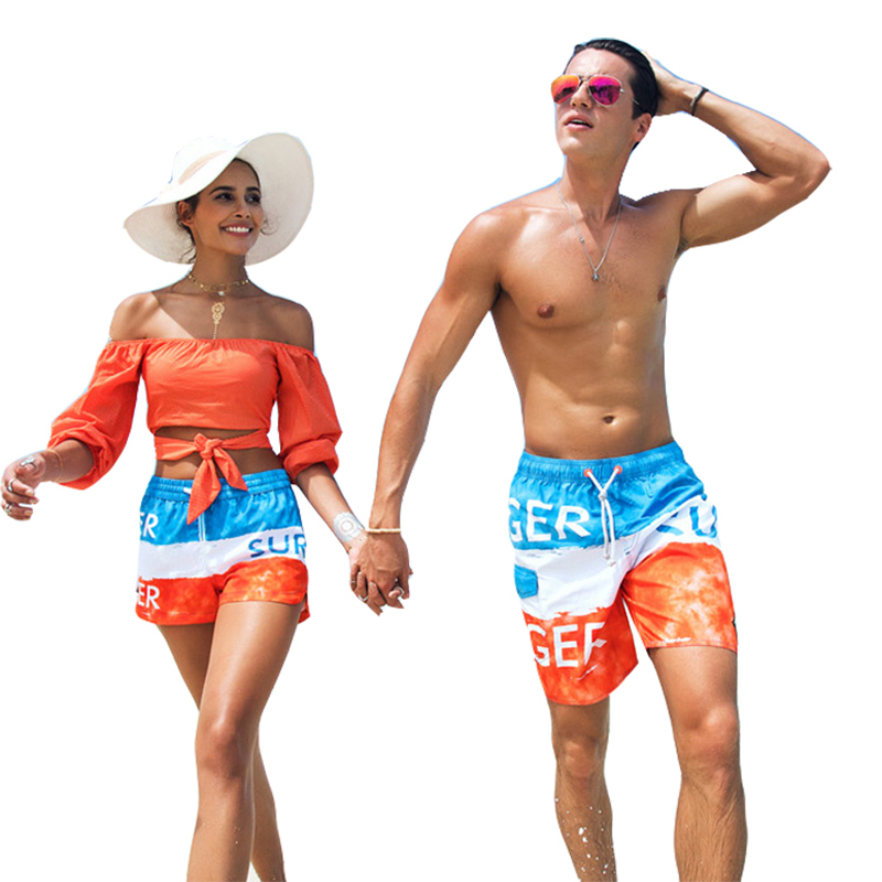 Summer   board     shorts   mens women swimming trunks fast dry surf swimwear couple beach   short   swimsuit sport running jogging   Short
