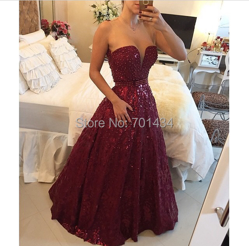 3ba07a97f61c Princesa A Line Ting V Neck Maroon Prom Dresses Custom Made Pearl Bodice  and Belt Fashion Dress For Girls For Party-in Prom Dresses from Weddings    Events ...