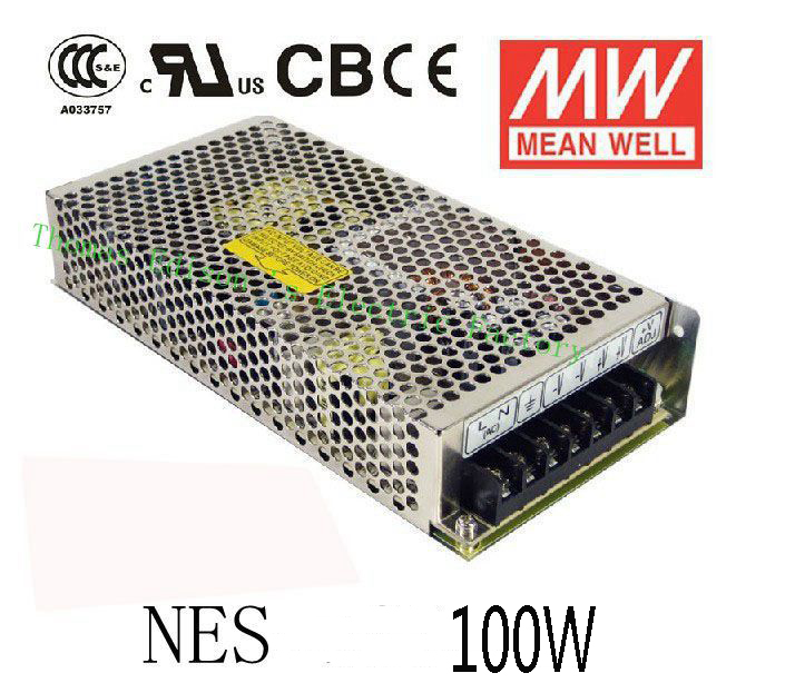 Original MEAN WELL power suply unit ac to dc power supply 100W 5V 20A 12V 8.5A 15V 7A 24V 4.5A 48V 2.3A MEANWELL 1pcs 60w 12v 5a power supply ac to dc power suply 12v 60w power supply 100 240vac 111 78 36mm