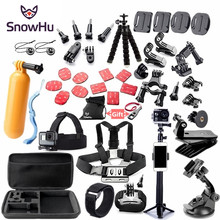 SnowHu For Gopro accessories set mount for go pro hero 7 6 5 4 3 black for xiaomi yi 4K action camera accessories case GS52(China)