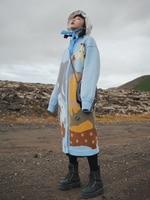 Магазине Джессики осень зима Для женщин Симпатичные o образным вырезом Однобортный Повседневное свободные толстые теплые X длинные Вязание