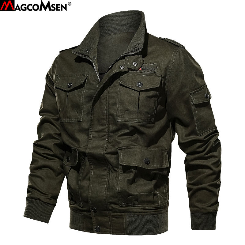 MAGCOMSEN Men Clothes Coat Military Army Bomber Men Jacket Tactical Outwear Windbreaker Pilot Jackets Coat Dropshipping AG MG 05-in Jackets from Men's Clothing    1