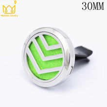 Magnet Diffuser Stainless Steel Car Aroma Locket 30MM Essential Oil Lockets With Free 10 Pads