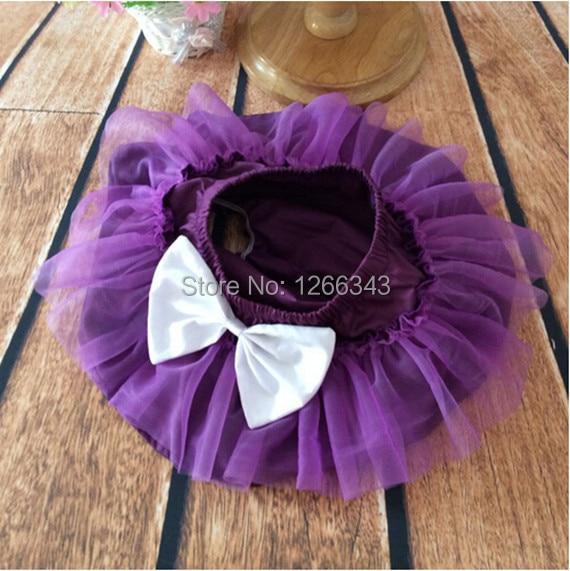 1st Birthday Gift Ruffle Diaper Cover Purple Baby Girl
