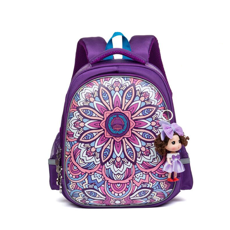 2017 NEW School Bags for Girls Waterproof bag kids cartoon Printing Backpack smalll size Orthopedic School Bag with Doll pendant children spiderman school bags 2016 new cartoon spider man printing schoolbags kids backpack for girls