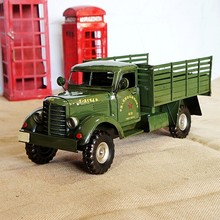 Metal retro liberation truck model military vehicle iron craft decoration comrade gift home accessories modern