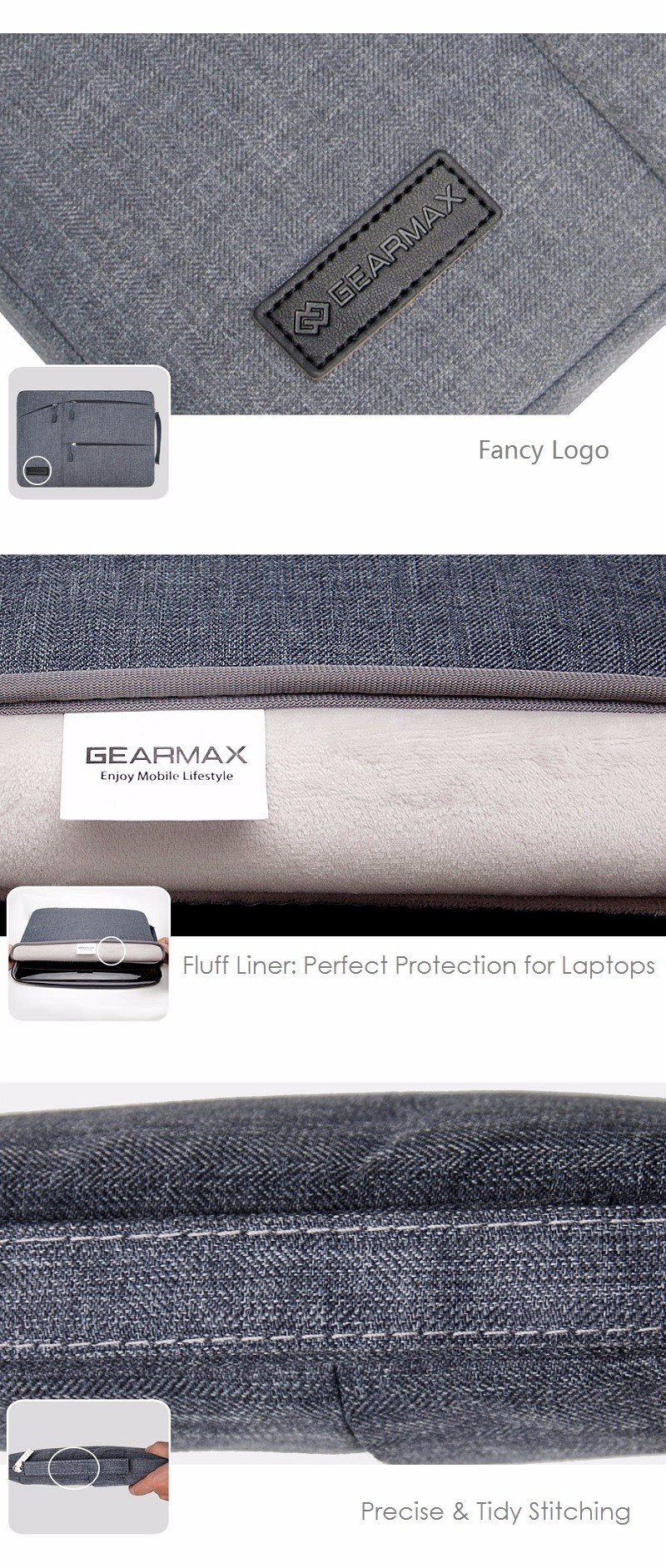 Travellers laptop bag  15.6 Gearmax Waterproof (4)