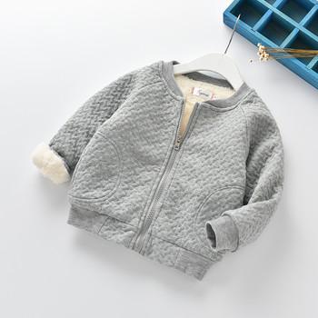 BibiCola winter boys girls sweatshirt clothes children girls velvet thick tops boys casual outerwear hoodies warm snowsuit tops
