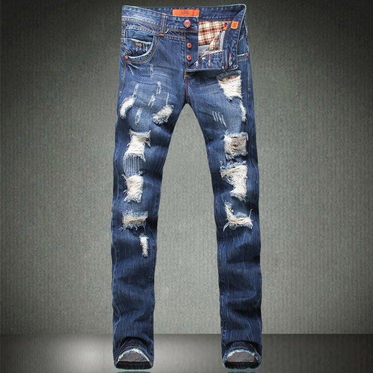 Destroyed Denim Jeans Mens