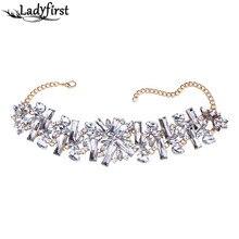 HotSale Ladyfirst 2016 Nueva Llegada Marca de Fábrica Grande de Lujo collar de Gargantilla Collar de Joyería de Boda Cristalinos de Las Mujeres de La Manera Maxi Encanto 3739
