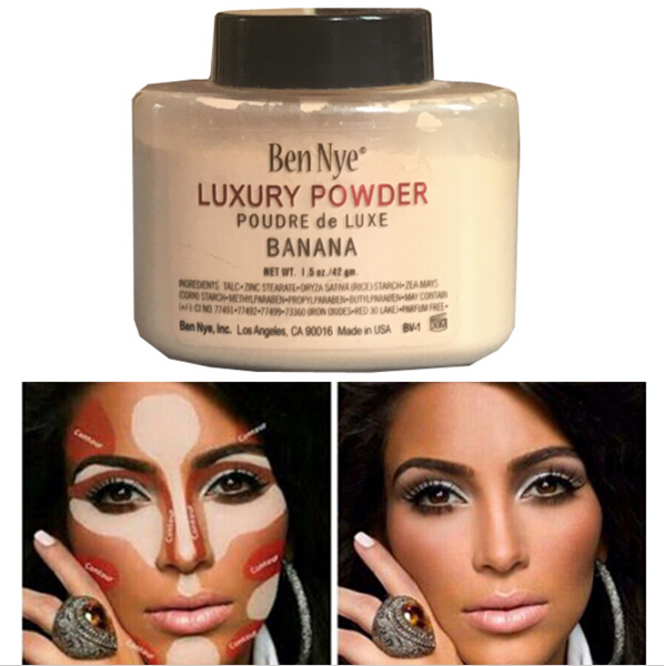 Hot Brand Ben Nye Banana Powder 42g/85g Bottle Luxury Powder Poudre de Luxe Banana Loose Foundation Beauty Makeup highlighter