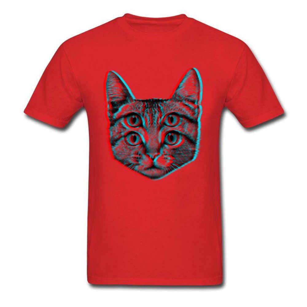 Psychedelic Brainsick Katze T Shirt Neko Rahman Kätzchen Tier T-shirts 3D Baumwolle Polyester Kleidung männer Weiß Tops Tees Miaow